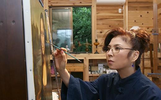八代亜紀 油彩画 特別プラン 絵画 1点