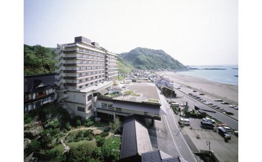 L01-901 湯野浜温泉 亀や 詣でる つかる 頂きます1泊2食付ペア宿泊券