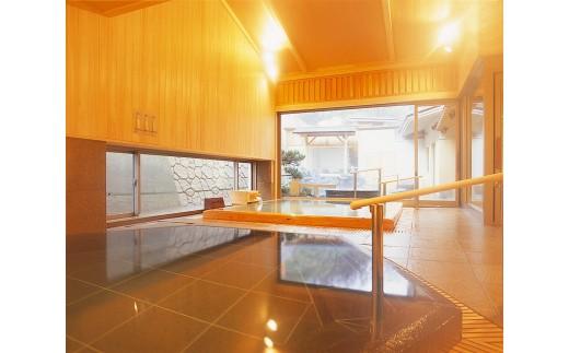 J01-906 奥湯野浜温泉 龍の湯 詣でる つかる 頂きます1泊2食付きペア宿泊券