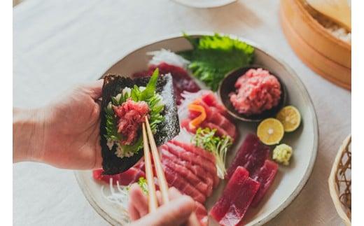 3-46【FISHSTAND】天然インド・メバチまぐろの食べ比べ手巻き寿司セット