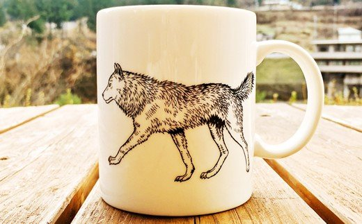 七ツ石狼マグカップ(1) ※玉川麻衣・画