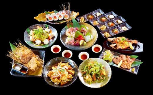 沖縄料理満腹ディナー 島人(しまんちゅ)コース【ペアお食事券】