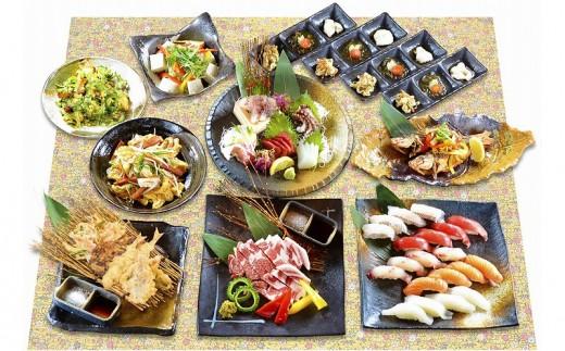 沖縄料理食べ尽くしディナー 海人(うみんちゅ)ペアコース【2名様分】