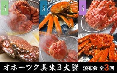 【期間限定】【頒布会3回】オホーツク美味3大蟹定期便【2021年4月中旬以降発送開始】