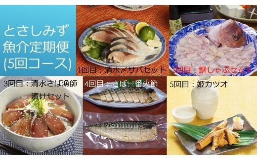 【I‐7】とさしみず魚介定期便(5回コース)