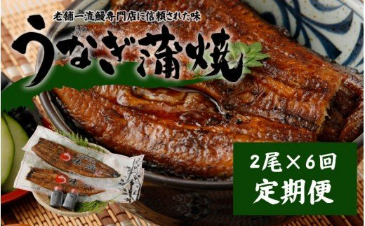 <2ヵ月に1回お届け>新仔!味鰻の本格手焼備長炭蒲焼2尾×6回定期便【E92】