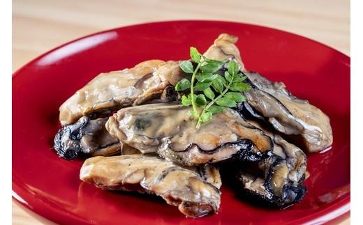 【盛り付け例】牡蛎燻製にんにくオイル漬