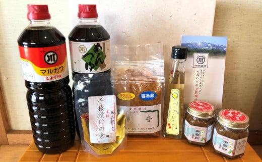 老舗味噌屋が作る「発酵食品セット6種類」 醤油 めんつゆ 味噌 南蛮麹 ハーブビネガー 千枚漬けの素