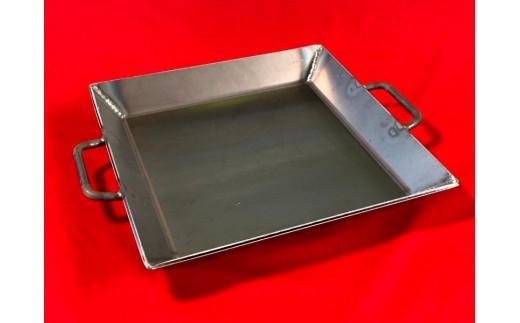 【AZUMOA -outdoor & camping-】 極厚鉄板(SS400深型) 厚さ6mm フライパン 鉄板鍋 バーベキュー 焼肉などに