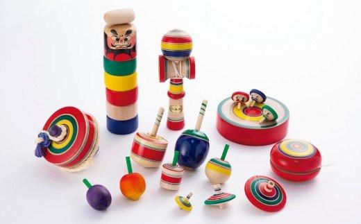 027-U001 独楽・木地玩具セット
