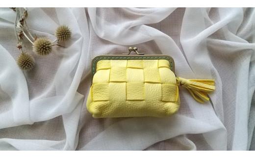 AN5 鹿革コレクション【蒲公英】がまぐち財布ショートモデル