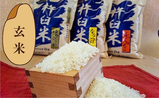 【玄米12ヶ月定期便食べ比べセット】特別栽培「きなうす米」 毎月3品種×2kg計6kg 02_O003