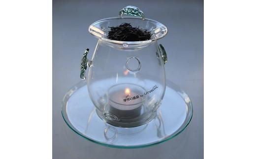 [C379]木の葉モチーフの茶香炉セット