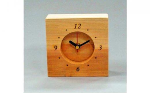[№5221-0017]西川材 置き時計
