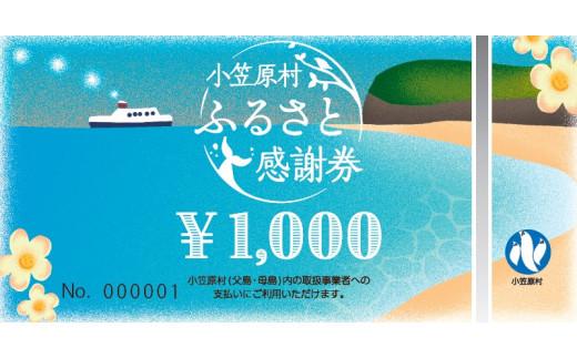小笠原村ふるさと感謝券3,000円分(1,000円×3枚)