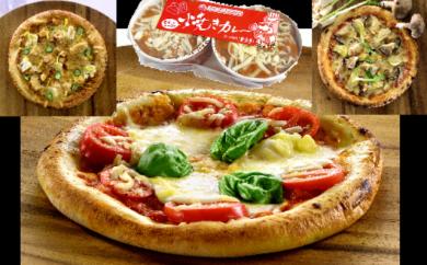 北九州農産物応援ピザ(3枚)&ご当地グルメ「焼きカレー」