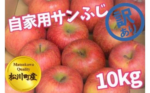 A20-113 松川町産!【訳あり】越年自家用サンふじ_10kg