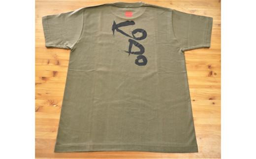 熊野古道Tシャツ【KODOTシャツ・オリーブ・Mサイズ】綿100%