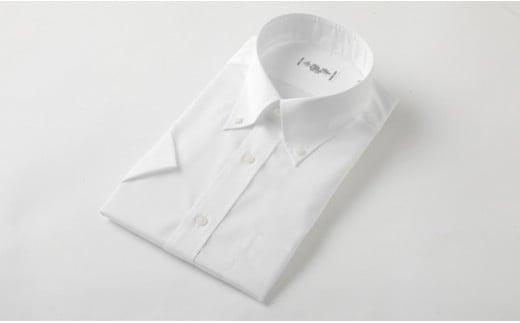 半袖 ボタンダウン 白 HITOYOSHI シャツ Mサイズ