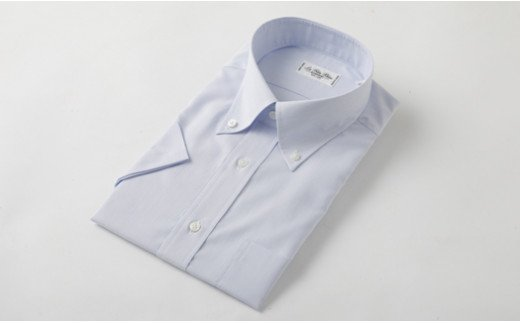 半袖 ボタンダウン ブルー HITOYOSHI シャツ Lサイズ