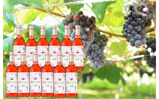 【C3103】北海道ワイン 小樽市内限定市民用ロゼ12本セット