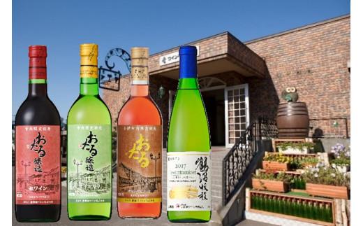 【B3103】北海道ワイン バラエティー4本セット