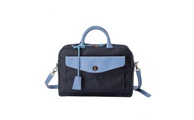 豊岡鞄 7802 キャリアケースS(ネイビー×スカイ)