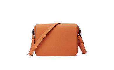 豊岡鞄 ショルダーバッグ かぶせ A4対応(オレンジ)