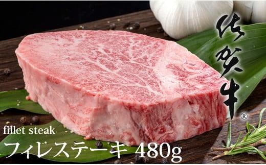 佐賀牛ヒレステーキ(480g)高評価 大人気 希少部位