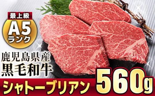 506-1 鹿児島県産黒毛和牛シャトーブリアン4~5枚入(560g)