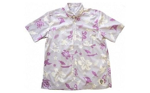 460 いわきオリジナルアロハシャツ「IWAKIアロハ」 ラベンダー