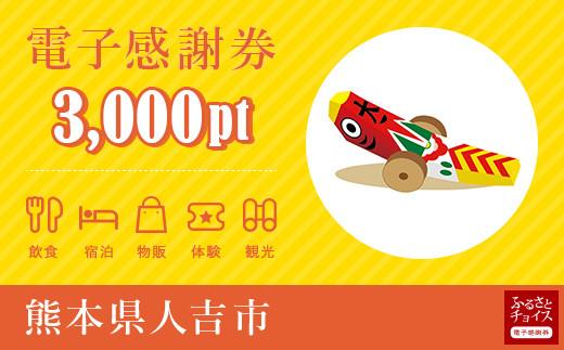 人吉市電子感謝券 3,000pt(1pt=1円)