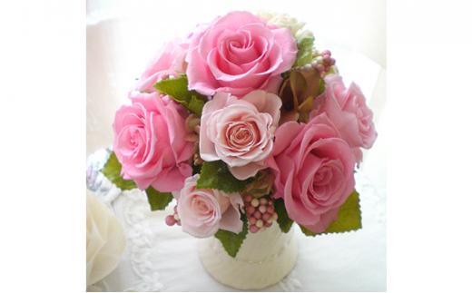 [№5672-0367]プリザーブドフラワーアレンジ L ピンク