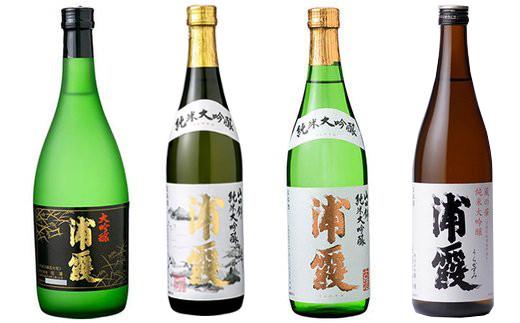 <1か月目> 塩竈の地酒「浦霞」大吟醸4合瓶×4本セット