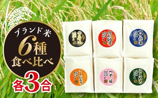 FYN9-120 【令和2年度産米】山形県西川町産 ブランド米食べくらべ A