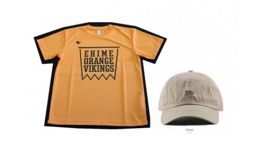 定番のオレンジTシャツ&選手考案のキャップ