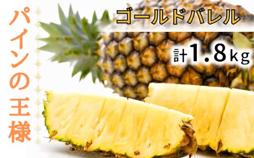 【2021年5月発送】パイナップルの王様!ゴールドバレル《1.8キロ程度×1個》