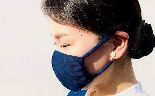 手作り 藍染のガーゼマスク 大人用 Sサイズ マスク 綿100%