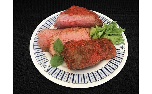 お肉屋さんの手作りローストビーフ「赤いマグマ」