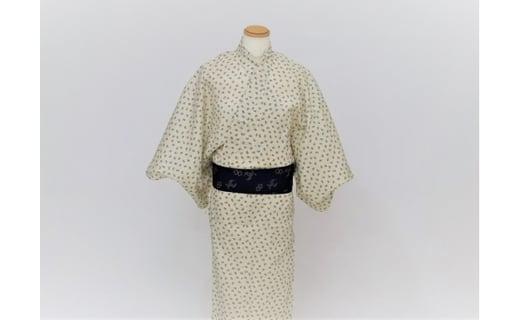 西陣織角帯と浴衣(イメージ)
