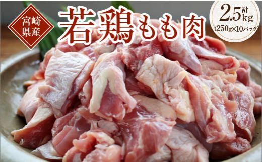 A464-R36 宮崎県産若鶏もも肉(250g×10パック)&若鶏炭火焼(150g×1袋)【令和3年6月配送分】