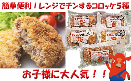 [№5217-0079]レンジで簡単!北海道産コロッケ色々食べくらべ5種類セット