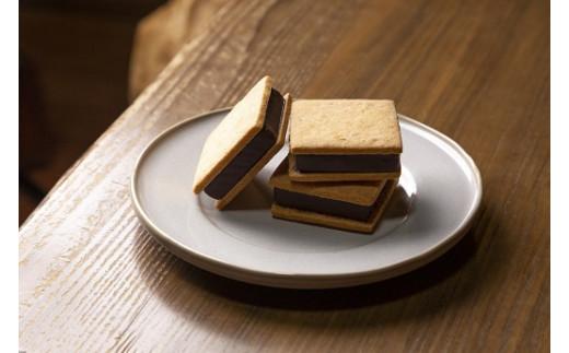 1093 【山奥チョコレート 日和】 生チョコサンド 10個入【予約商品】