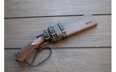 曲がり焚き火鉈・ 黒両刃 柄角度/標準型