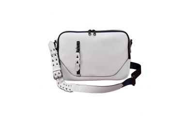 豊岡鞄 ブルーム 横ショルダー(白)