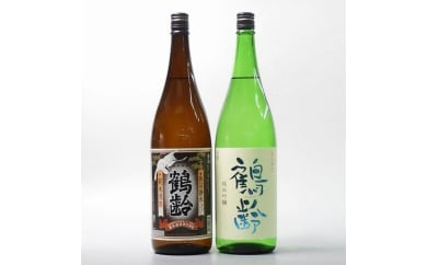 日本酒 鶴齢 純米・純米吟醸 1800ml×2本セット