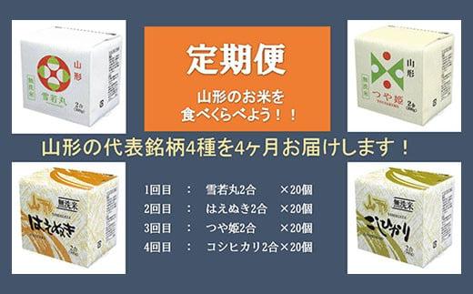 FY20-384 【4ヶ月連続定期便】無洗米キューブ4種(300g×各20個)×4回