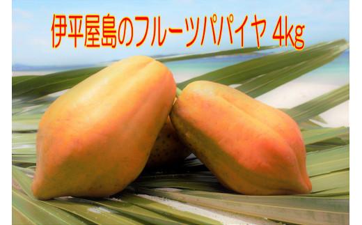 伊平屋島のフルーツパパイヤ4kg