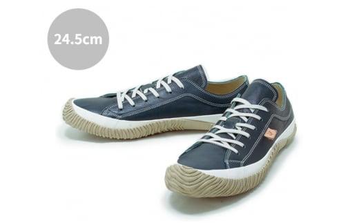 No.210 レザースニーカー SPM-110 DARK BLUE 24.5cm / ファッション 靴 カンガルーレザー SPINGLE MOVE スピングルムーヴ 広島県