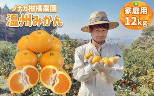 AR3 【ご家庭用訳あり】ノナカ柑橘農園 温州みかん 12kg